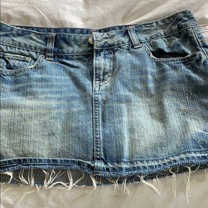 American Eagle denim skirt distressed/mini size 10